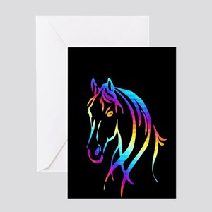Colorful Horse Greeting Cards