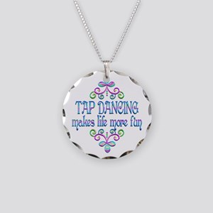 Tap Dancing Fun Necklace Circle Charm