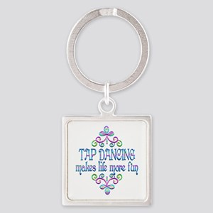Tap Dancing Fun Square Keychain