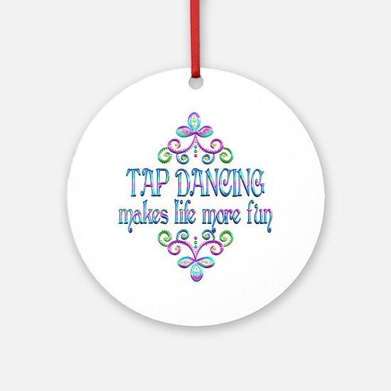 Tap Dancing Fun Round Ornament