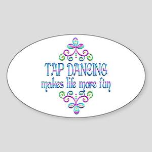 Tap Dancing Fun Sticker (Oval)