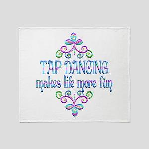 Tap Dancing Fun Throw Blanket