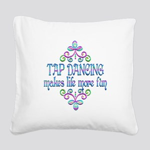 Tap Dancing Fun Square Canvas Pillow