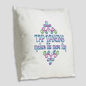 Tap Dancing Fun Burlap Throw Pillow
