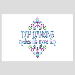 Tap Dancing Fun Large Poster