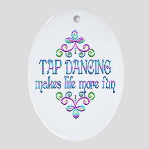 Tap Dancing Fun Oval Ornament