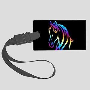Colorful Horse Large Luggage Tag
