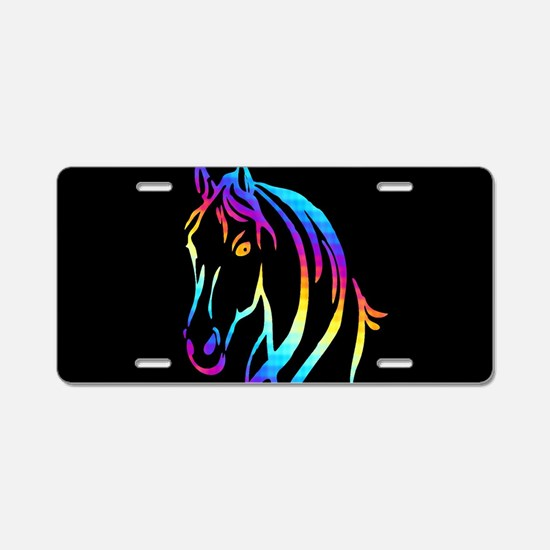 Colorful Horse Aluminum License Plate