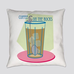 Coffee On The Rocks Everyday Pillow