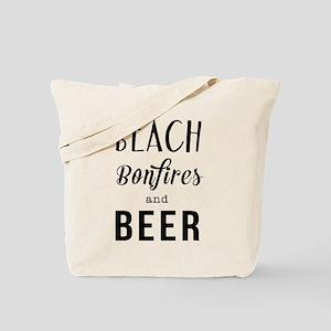 Beach bonfires and beer Tote Bag