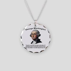 Washington: Constitution Necklace Circle Charm