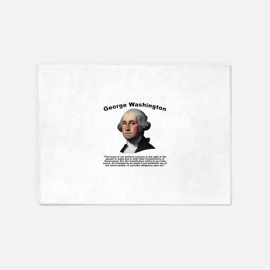Washington: Constitution 5'x7'Area Rug
