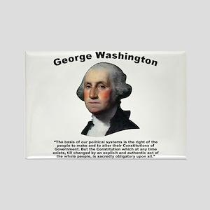 Washington: Constitution Rectangle Magnet