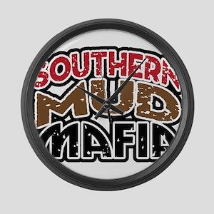 southern mud mafia Large Wall Clock