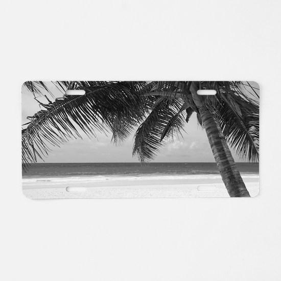 Cute Black and white Aluminum License Plate