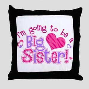 Imgoingtobeabigsisternew Throw Pillow