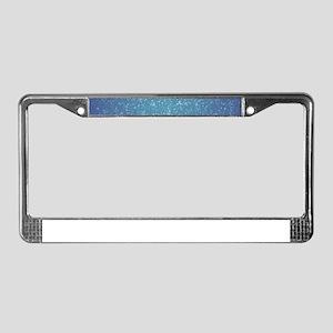 Snow License Plate Frame