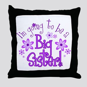 Im going to be a big sister Throw Pillow