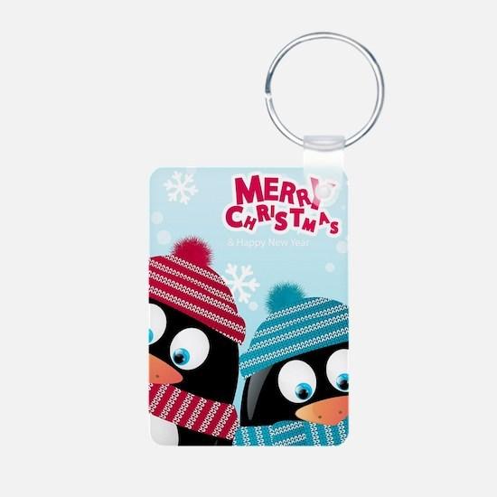 Christmas Penguins Keychains