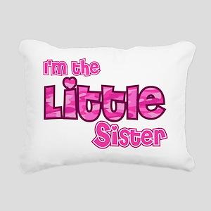 Im the little sister Rectangular Canvas Pillow