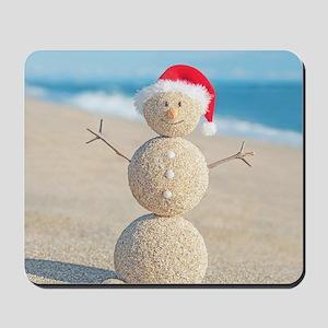 Beach Snowman Mousepad
