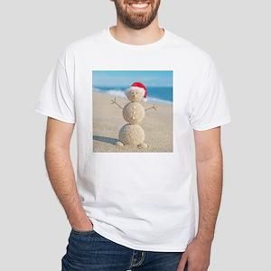 Beach Snowman T-Shirt