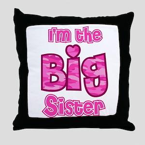 Im the big sister Throw Pillow