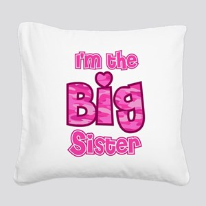 Im the big sister Square Canvas Pillow
