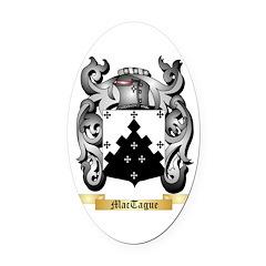 MacTague Oval Car Magnet