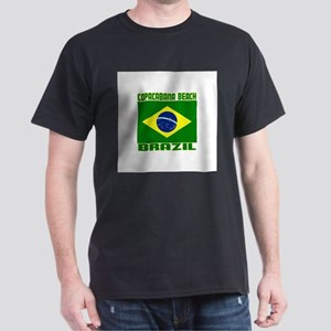 Copacabana Beach, Brazil Dark T-Shirt