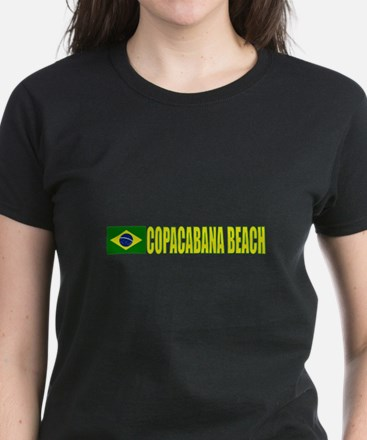 Copacabana Beach, Brazil Women's Dark T-Shirt