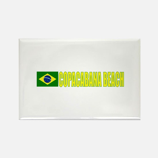 Copacabana Beach, Brazil Rectangle Magnet (100 pac