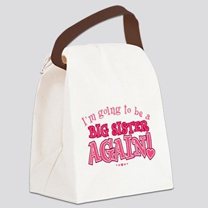 Im going to be a big sister again Canvas Lunch Bag