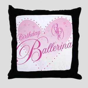 Birthday Ballerina Throw Pillow