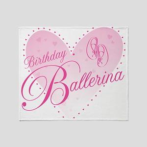 Birthday Ballerina Throw Blanket