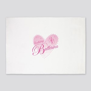 Birthday Ballerina 5'x7'Area Rug