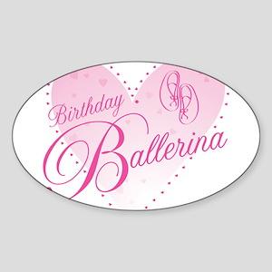 Birthday Ballerina Sticker