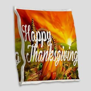 Thanksgiving Burlap Throw Pillow