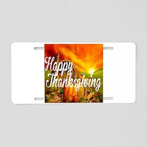 Thanksgiving Aluminum License Plate