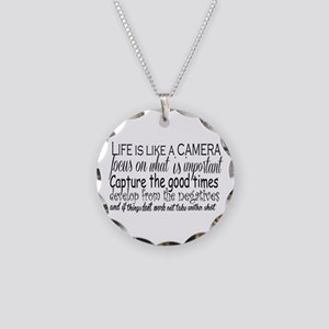 life is like a camera Necklace Circle Charm
