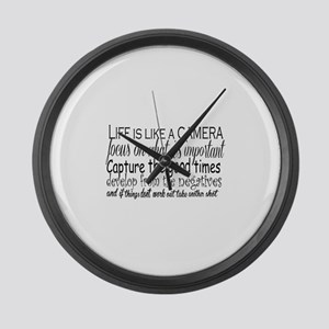 life is like a camera Large Wall Clock