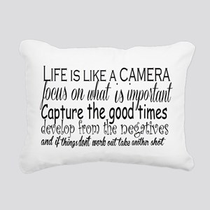 life is like a camera Rectangular Canvas Pillow