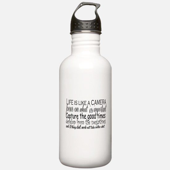 life is like a camera Water Bottle