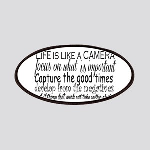 life is like a camera Patch