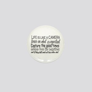 life is like a camera Mini Button