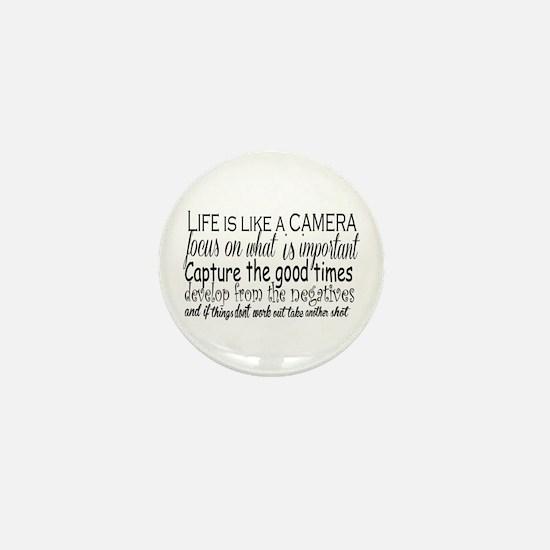 life is like a camera Mini Button