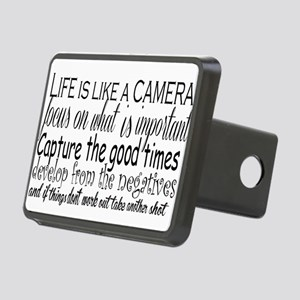 life is like a camera Rectangular Hitch Cover