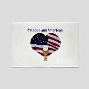 Catholic AND American Rectangle Magnet
