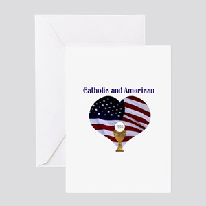 Catholic AND American Greeting Card