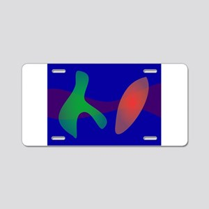 Simple Abstract Irregular Forms Aluminum License P